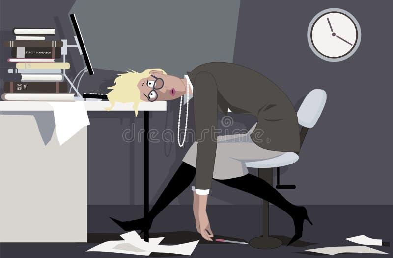 po godzinach pracy ilustracja wektor