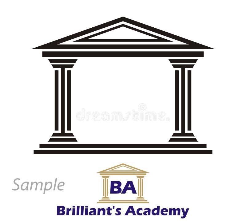 po grecku collegium logo royalty ilustracja