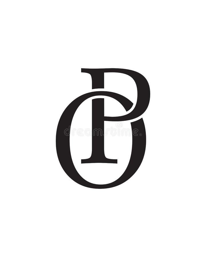 PO Initials Logo stock photos