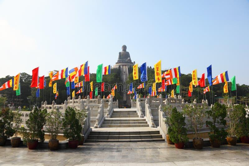 Po Lin Monastery i Hong Kong fotografering för bildbyråer