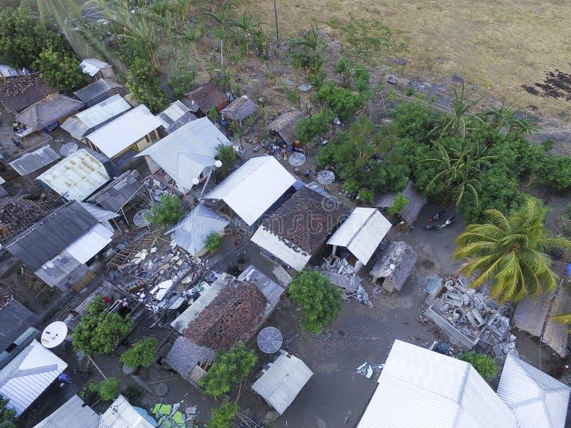 Po Lombok trzęsienia ziemi obrazy stock