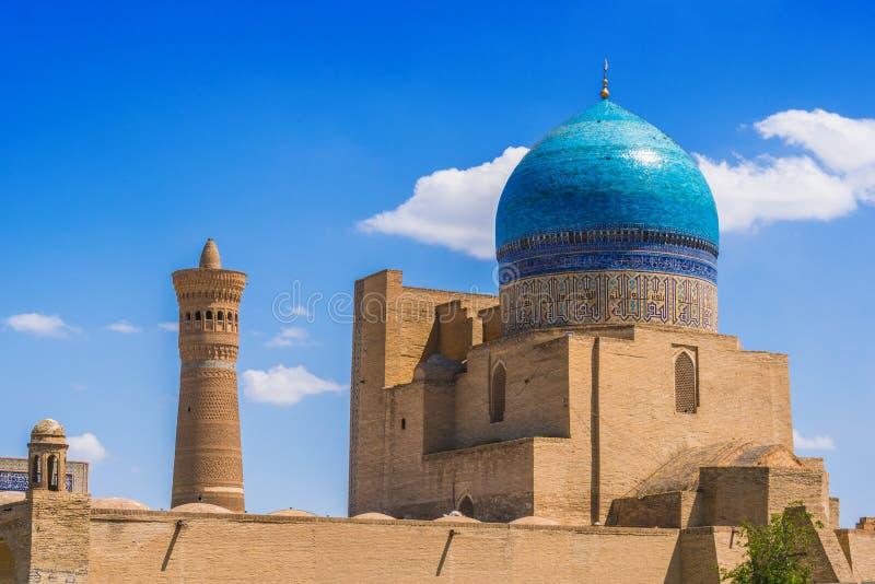 po lub Poi Kalan kompleks w Bukhara, Uzbekistan zdjęcie royalty free