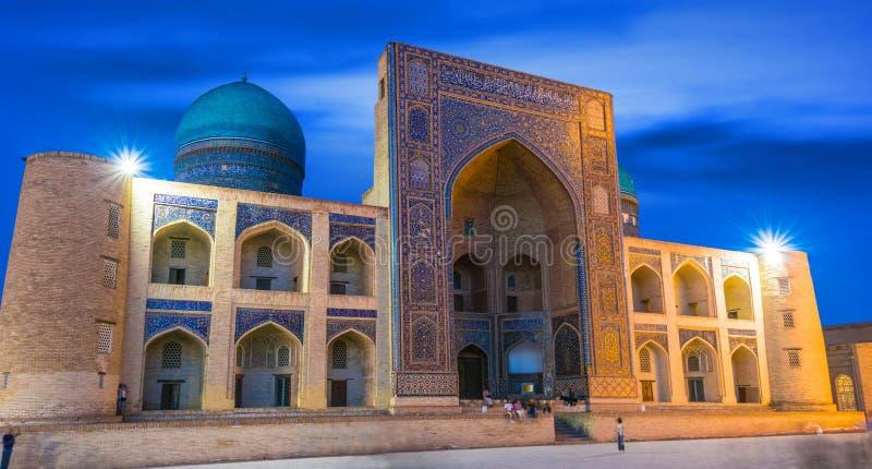 po lub Poi Kalan kompleks w Bukhara, Uzbekistan zdjęcia stock