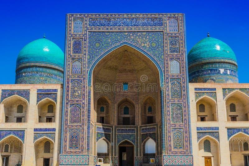 po lub Poi Kalan kompleks w Bukhara, Uzbekistan zdjęcie stock