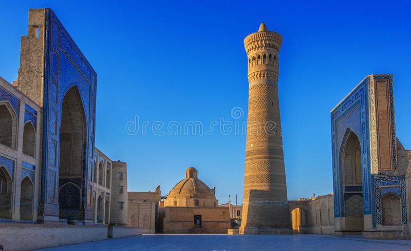 po lub Poi Kalan kompleks w Bukhara, Uzbekistan obrazy stock