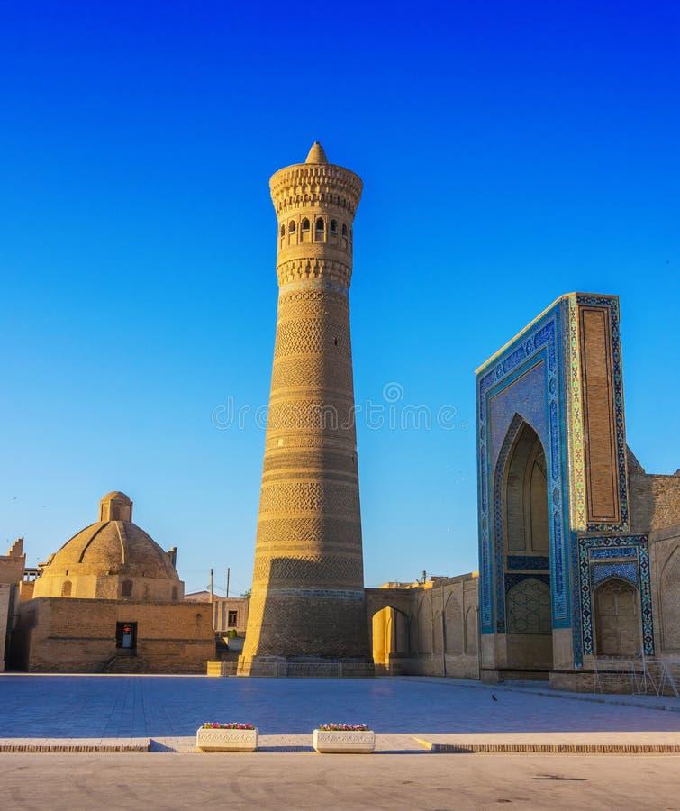 po lub Poi Kalan kompleks w Bukhara, Uzbekistan obraz stock
