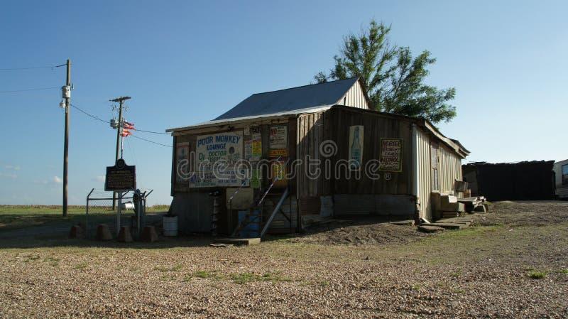 Po małpy juke złącze w Merigold, Mississippi obraz stock