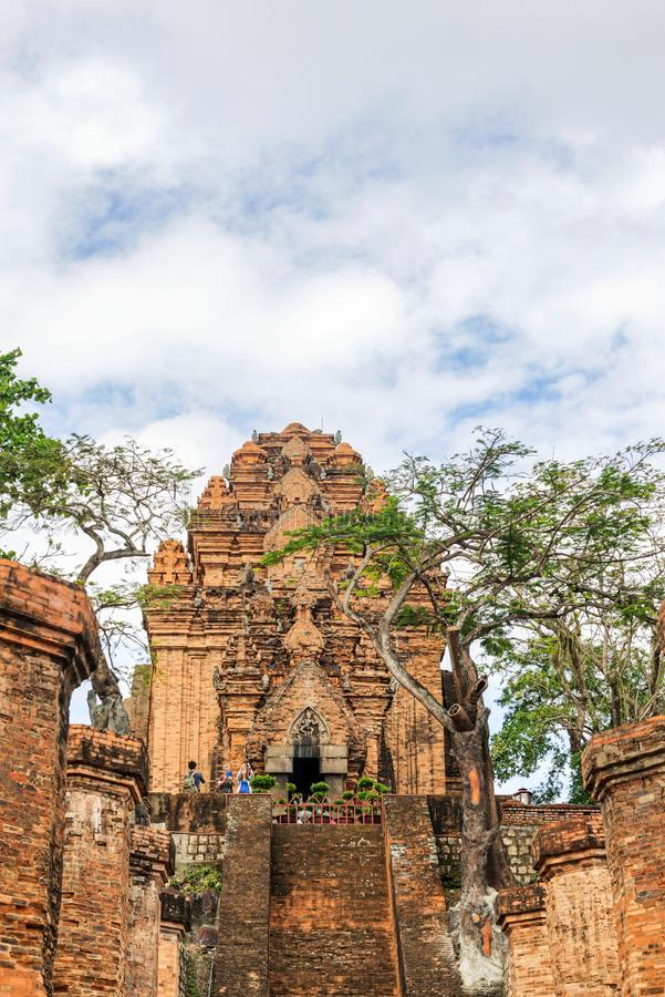 Po Nagar πύργοι Cham ναών σε Nha Trang, επαρχία Khanh Hoa, VI στοκ φωτογραφία με δικαίωμα ελεύθερης χρήσης