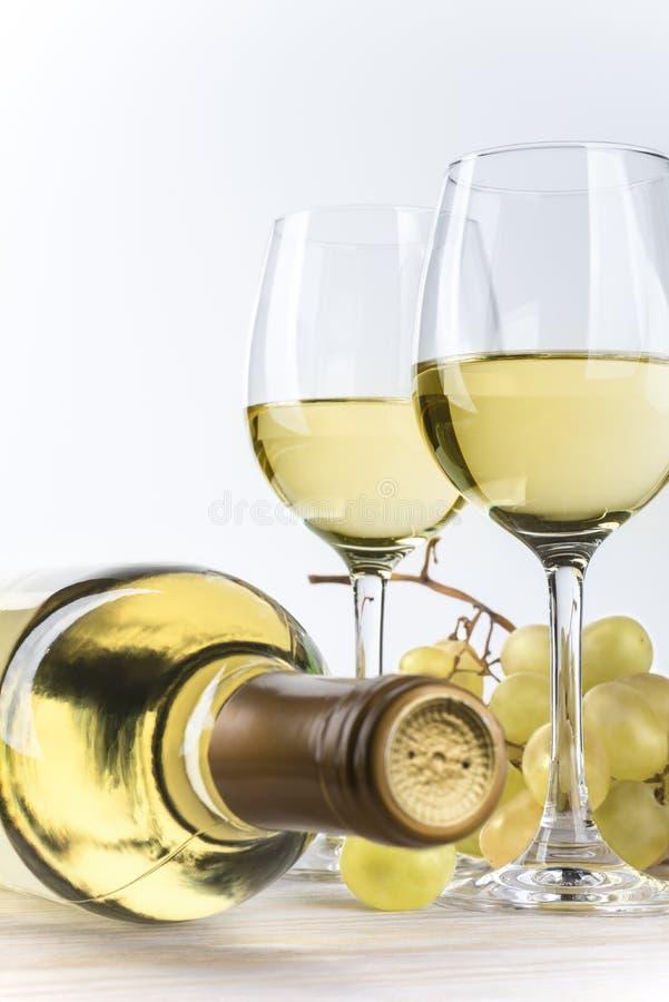 Po prostu biały wino fotografia royalty free