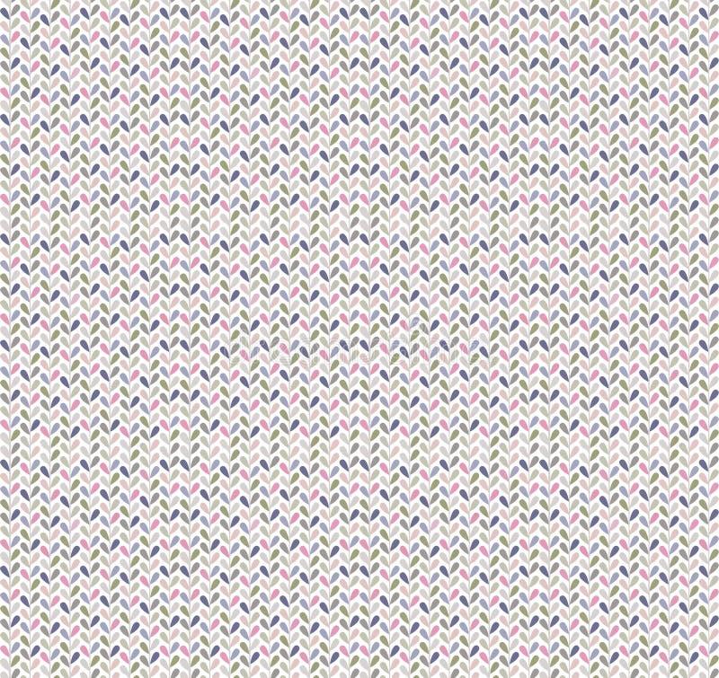 Po prostu i galanteryjnych małych liści wektorowy bezszwowy wzór z szewronu spojrzeniem obrazy royalty free