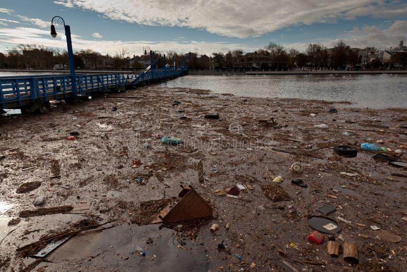 Po Superstorm Sheepshead Zatoka Sandy obraz stock