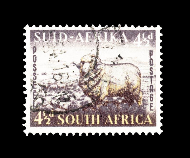 Po?udniowa Afryka na znaczkach pocztowych zdjęcia royalty free