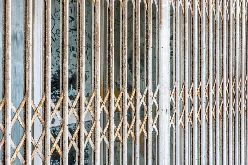 Po upadłościowy biznesowego zostaje zamknięty na zawsze zdjęcie royalty free