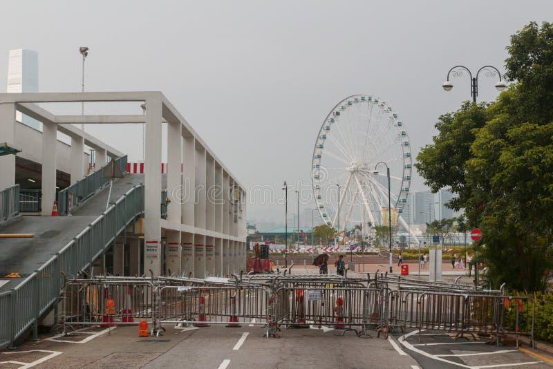 Po 29 września 2014 r. rewolucja parasolowa zdjęcie royalty free