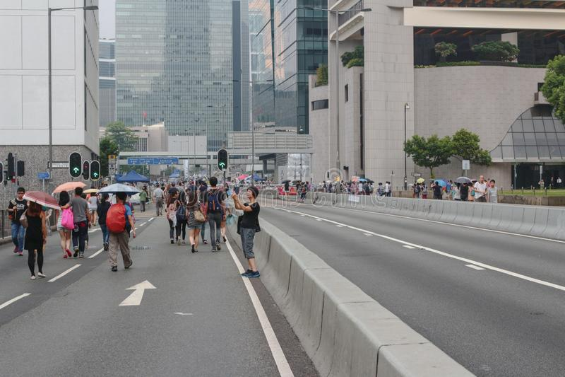 Po 29 września 2014 r. rewolucja parasolowa zdjęcia stock