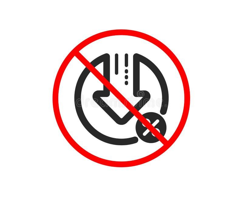 Po?yczkowa procentu zmniejszania ikona Dyskontowy znak wektor royalty ilustracja