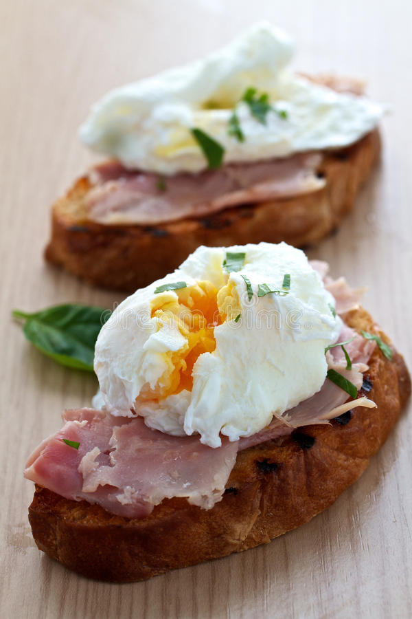 Download Poached egg breakfast stock photo. Image of ciabatta - 24623892