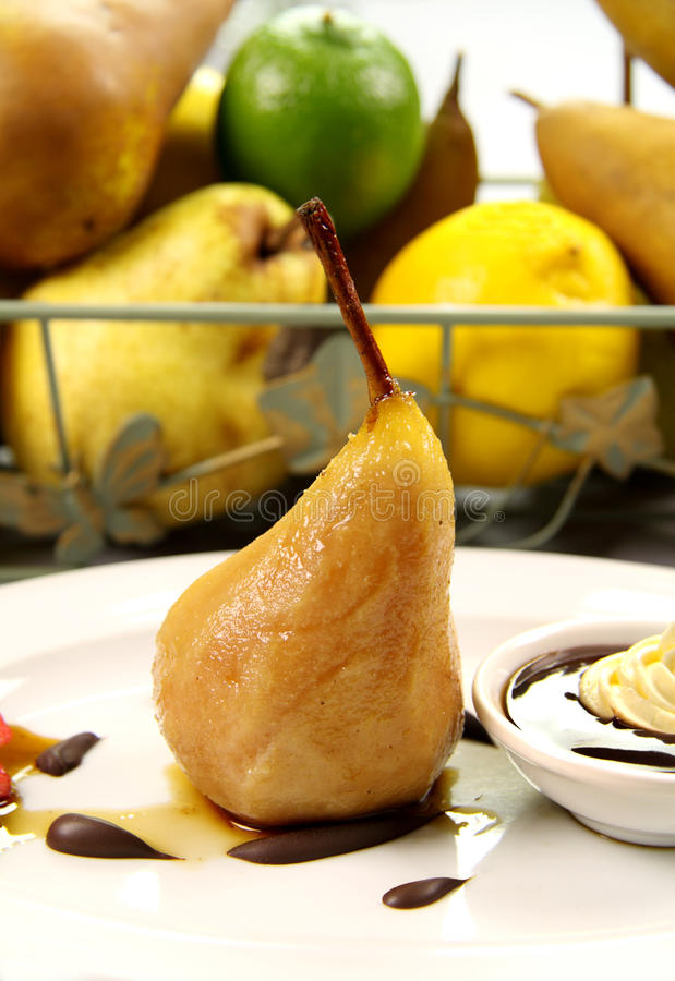 Download Poached Pear stock photo. Image of ingredients, cooking - 10079232