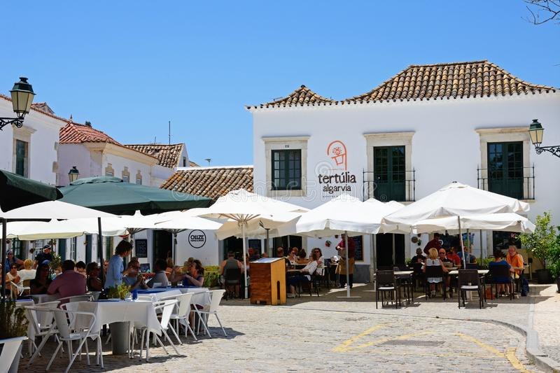 City centre restaurants, Faro. stock photography