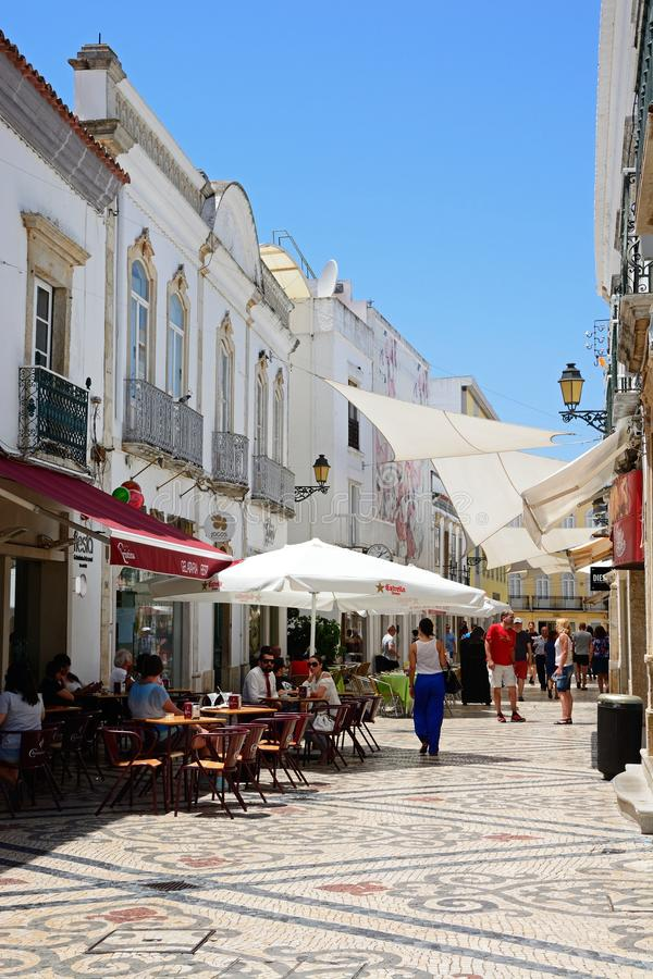 City centre street, Faro. stock image