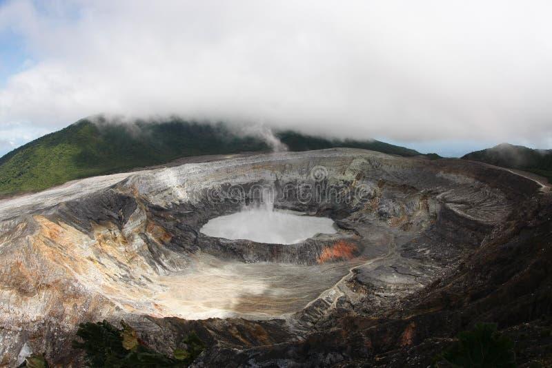 Poas Volcano Costa Rica. The crater of Poas Volcano in Costa Rica royalty free stock image