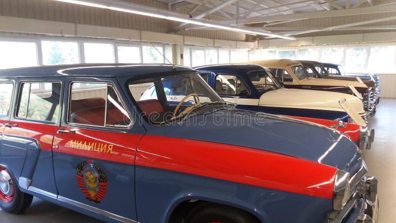 ` Pobeda ` is een sovjetpersonenauto stock afbeeldingen