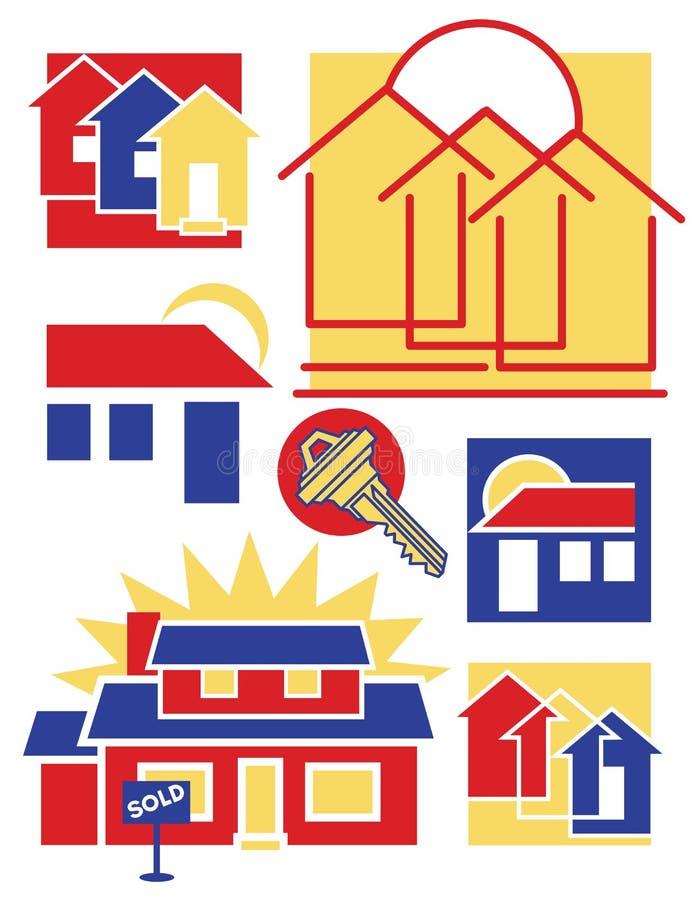 pobieranie 3 domu logo ilustracji