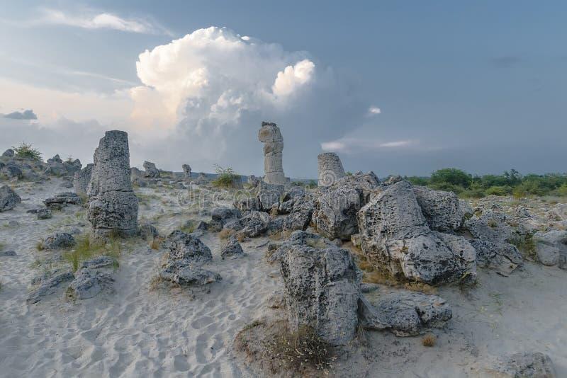 Pobiti Kamani - le désert en pierre photographie stock libre de droits