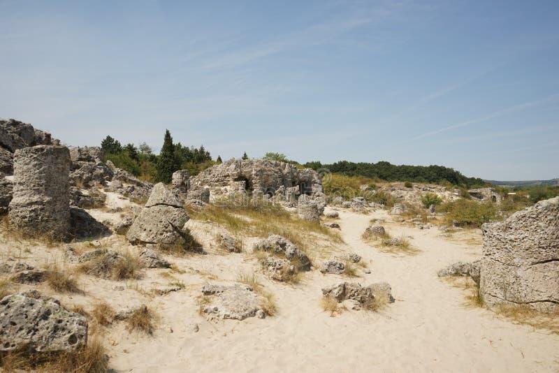 Pobiti Kamani le désert en pierre, un phénomène comme un désert de roche image libre de droits