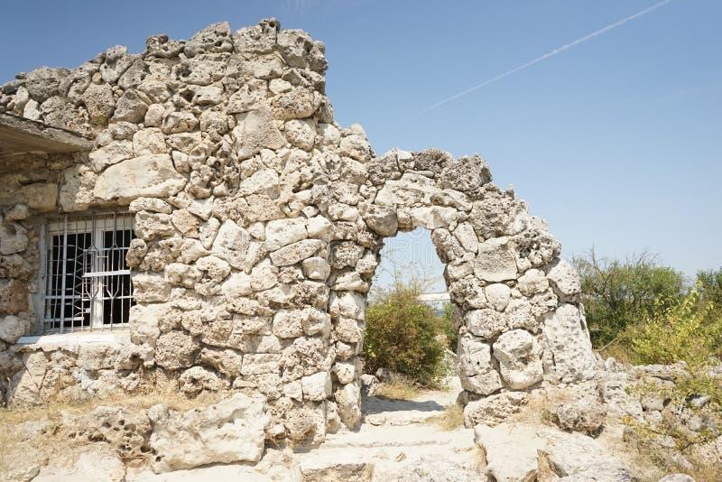 Pobiti Kamani le désert en pierre, un phénomène comme un désert de roche photo stock