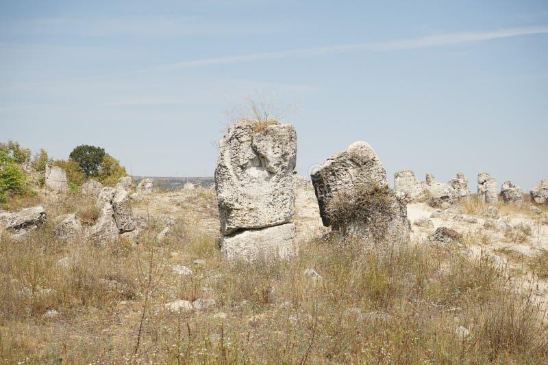 Pobiti Kamani le désert en pierre, un phénomène comme un désert de roche images libres de droits