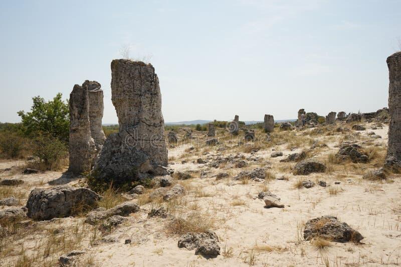 Pobiti Kamani le désert en pierre, un phénomène comme un désert de roche image stock