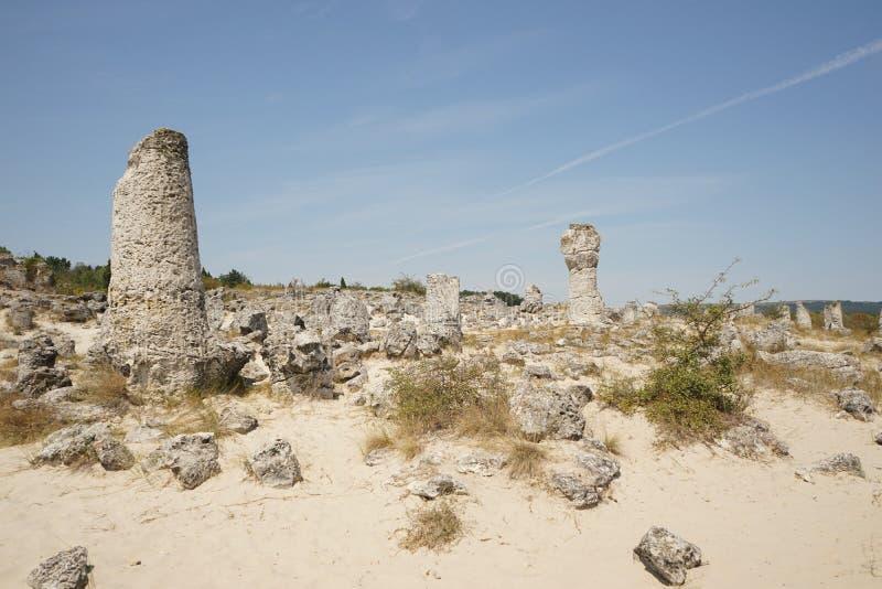 Pobiti Kamani le désert en pierre, un phénomène comme un désert de roche photographie stock