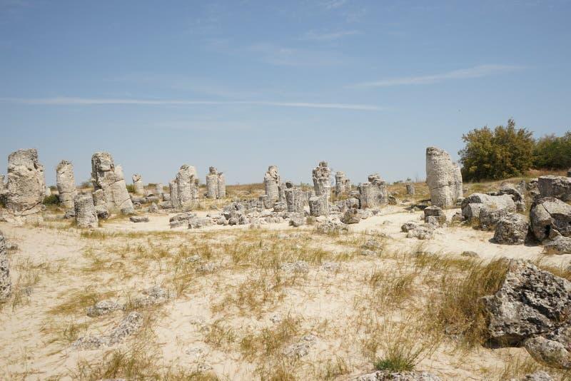 Pobiti Kamani le désert en pierre, un phénomène comme un désert de roche photos stock