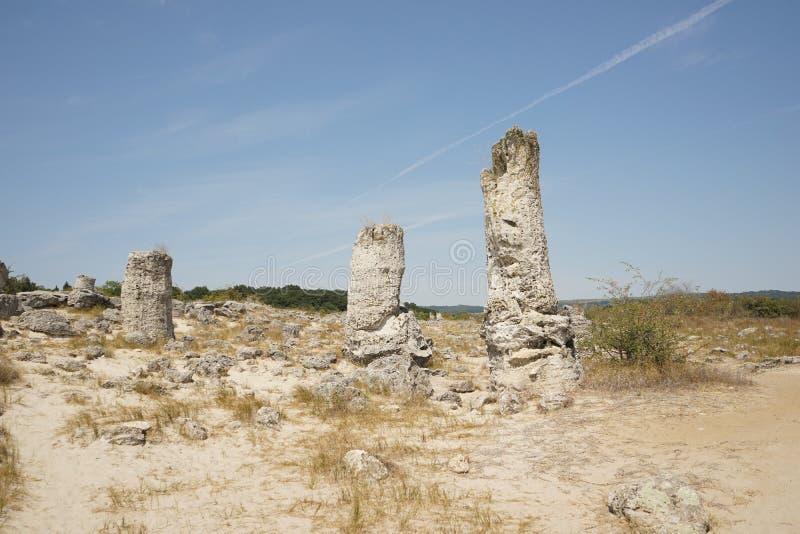 Pobiti Kamani le désert en pierre, un phénomène comme un désert de roche photographie stock libre de droits