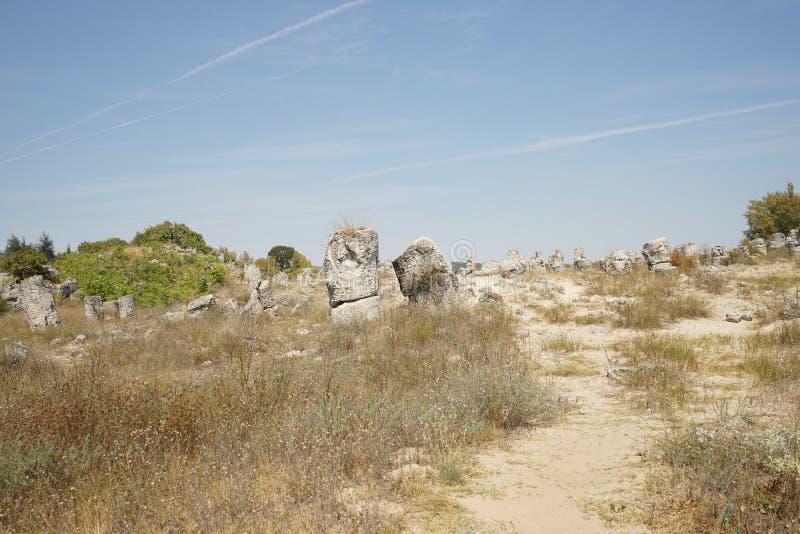 Pobiti Kamani le désert en pierre, un phénomène comme un désert de roche images stock