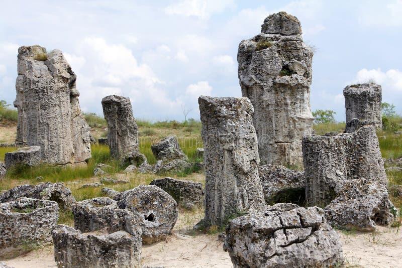 Pobiti Kamani ou deserto de pedra, província de Varna, Bulgária foto de stock royalty free