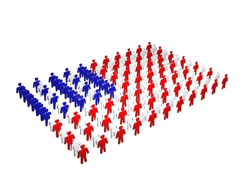 Población de América stock de ilustración
