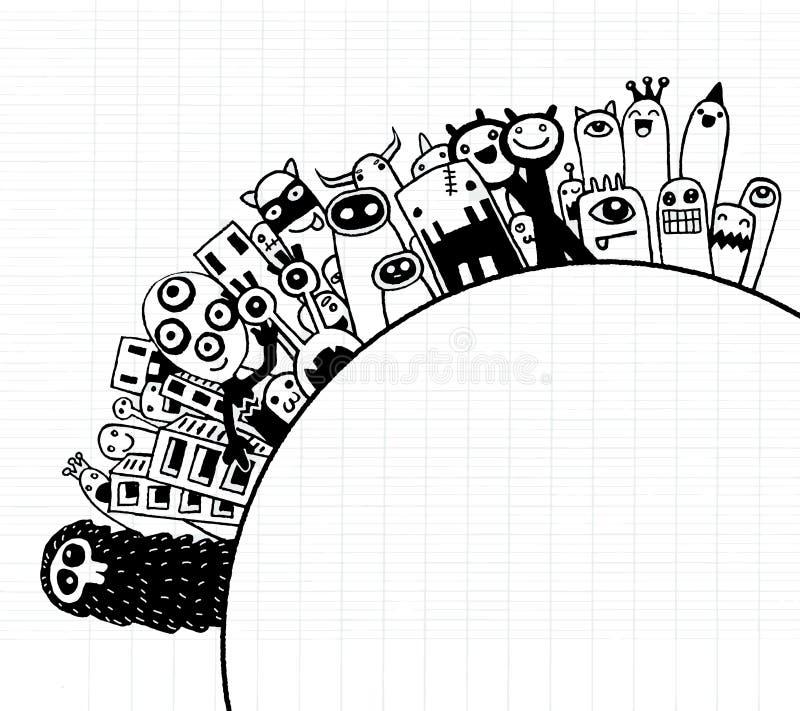 Población de los monstruos de nuestro mundo libre illustration