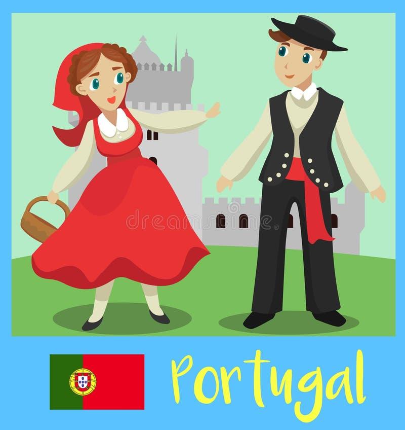 Población de Portugal ilustración del vector
