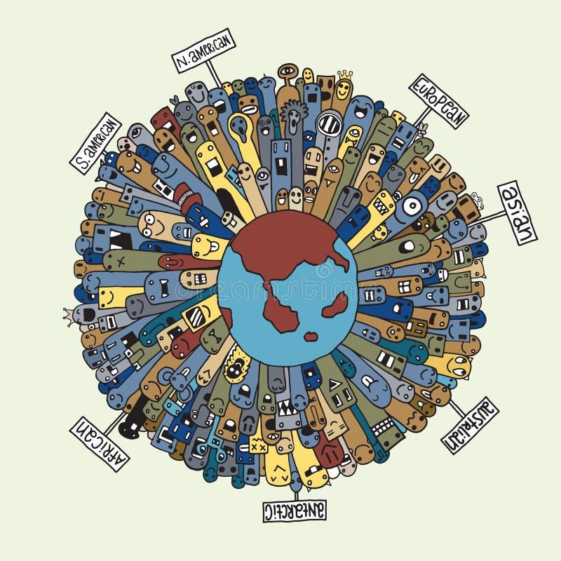 Población del monstruo de nuestro mundo ilustración del vector