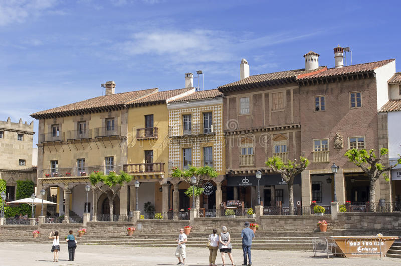 Download Poble Espanol In Barcelona Editorial Image Of Steps