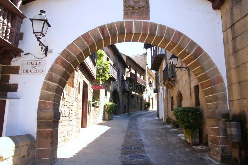 Poble Espanyol in Barcelona, Spanje stock foto