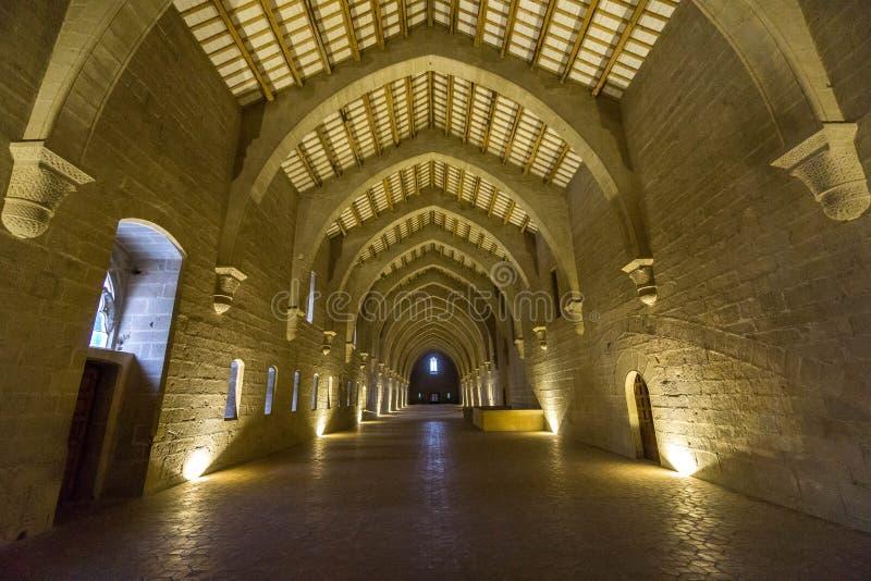 Poblet,塔拉贡纳,西班牙修道院  库存照片