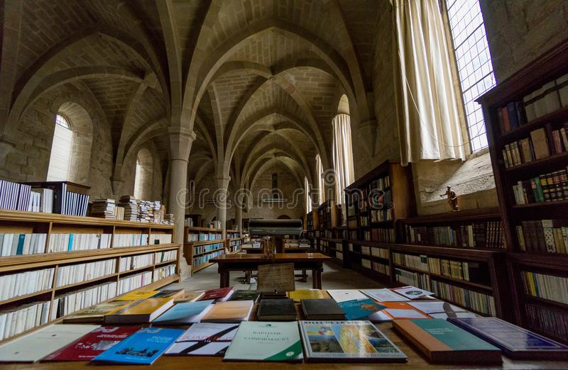 Poblet,塔拉贡纳,西班牙修道院  免版税库存图片