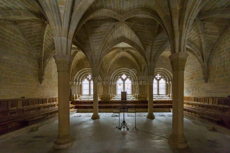 Poblet,塔拉贡纳,西班牙修道院  库存图片