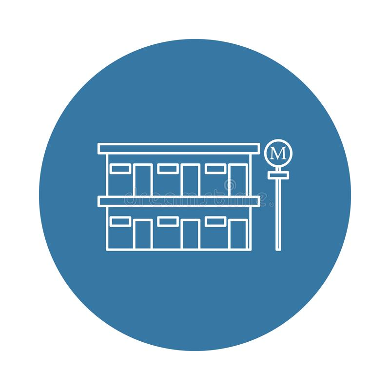 pobocze motelu ikona Element hotelowe ikony dla mobilnych pojęcia i sieci apps Odznaki pobocza motelu stylowa ikona może używać d ilustracja wektor