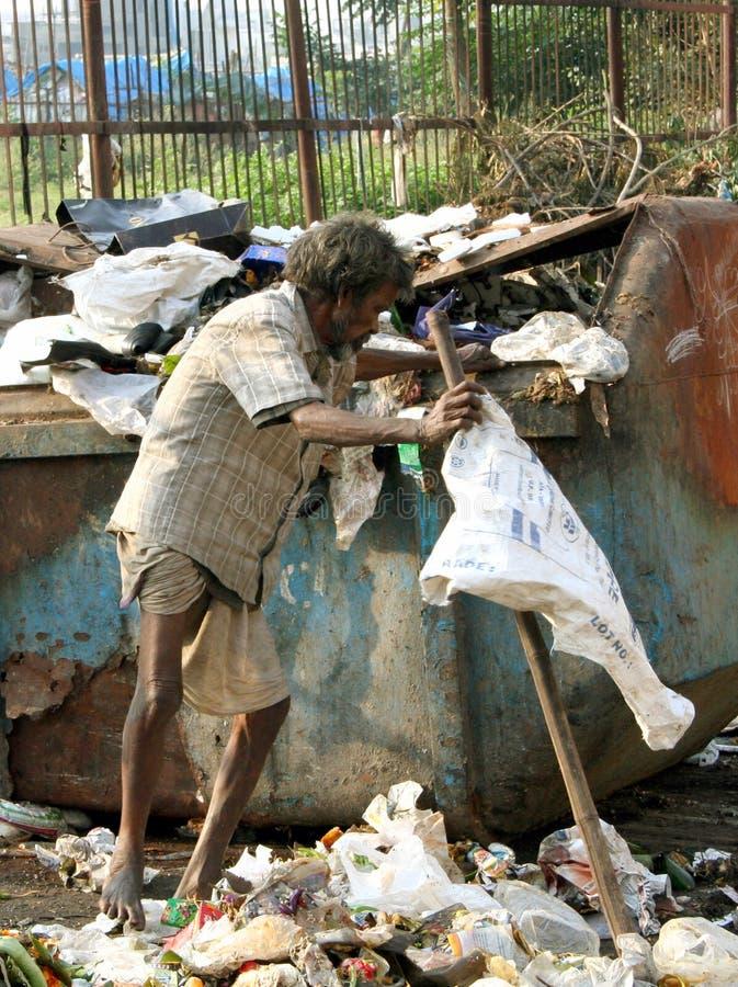Pobre homem indiano foto de stock