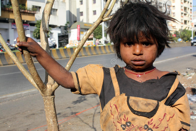 Pobreza bajo Sun foto de archivo