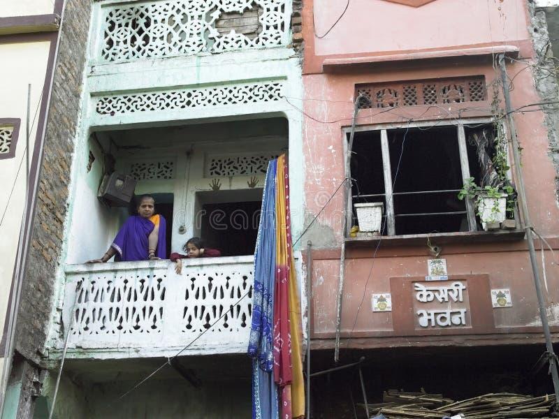 Pobreza - carcaça do precário em Udaipur - India fotografia de stock